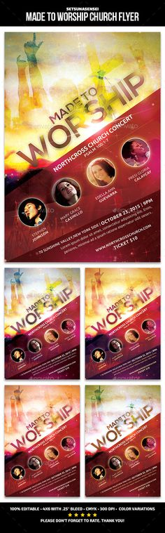 Urban Leadership Conference Church Flyer Template Flyer template - church flyer template
