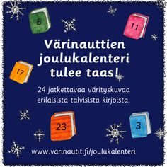 Joulukalenteri 2020 - Värinautit Crafts For Kids, Arts And Crafts, Kindergarten, Education, School, Christmas, Therapy, Crafts For Children, Xmas