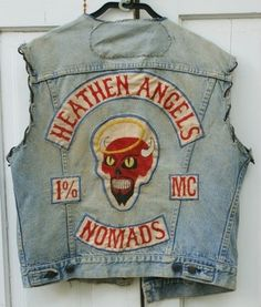 Vintage MC vest heathen angels