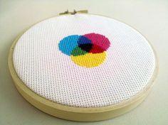 color wheel cross stitch