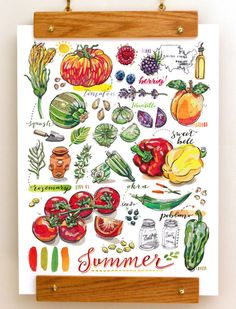 This vibrant illustration will remind you to use veggies that are in season. | 17 Prints That Will Make You A Better Cook