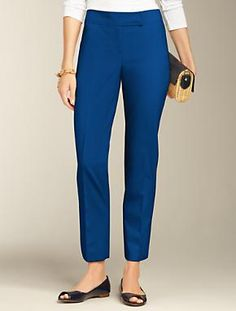 Talbots - Curvy Fit Double-Weave Ankle Pants | New Arrivals | Misses $109 (also black, navy)