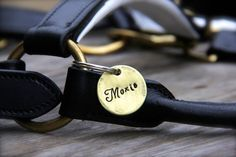 Custom Equestrian Halter Tag / Bridle Tag in Hand Stamped Brass - Perfect Gift for Horse Lovers on Etsy, $12.75