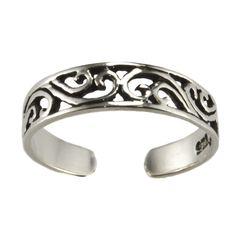 .925 Sterling Silver Filigree Toe Ring