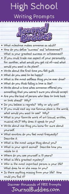 A unique set of 35 thought-provoking writing prompts especially for high school students.These prompts dig a little deeper than most so check them out today! school party Great Writing Prompts for High School Students Homeschool High School, High School Counseling, High School Classroom, English Classroom, School Counselor, High School Students, Homeschooling, High School Writing Prompts, Writing Promps