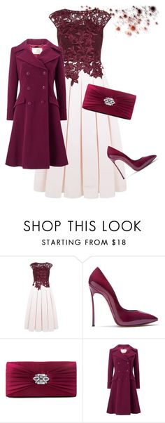 """""""The Beauty of Simplicity"""" by belinda54-1 ❤ liked on Polyvore featuring Ted Baker, Casadei, Gunne Sax By Jessica McClintock and Jacques Vert"""