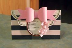 "Pop-Up Gift Card or Money Holder- 5"" x 3"" - Clutch Purse/Wallet - Pink & Black…"