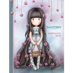 Gorjuss Cards - Rosebud at Santoro London.Send your own personalised message in our Gorjuss card, featuring the enthralling 'Rosie' artwork. Cute Images, Pretty Pictures, Little Doll, Little Girls, Kawaii, Illustrations, Illustration Art, Art Mignon, Santoro London