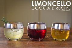 Limoncello Cocktail Recipes by @VintageMixer