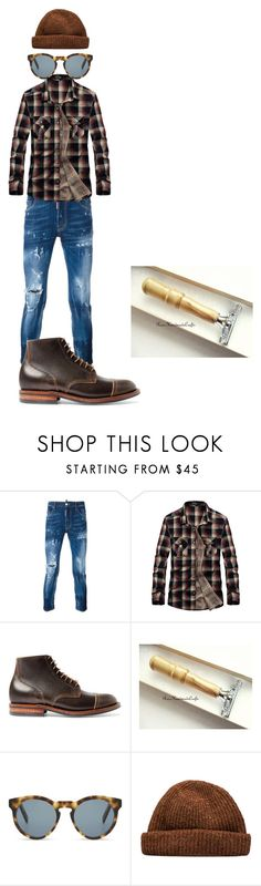 """""""Untitled #40"""" by rosshandmadecrafts ❤ liked on Polyvore featuring Dsquared2, rag & bone, DICK MOBY, men's fashion and menswear"""