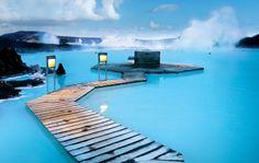 Blue Lagoon, geothermal wonder in Reykjavik - A honeymoon must in Iceland Blue Lagoon Spa Iceland, Blue Lagoon Reykjavik, Vacation Destinations, Dream Vacations, Vacation Spots, Amazing Destinations, Iceland Destinations, Vacation Days, Winter Destinations