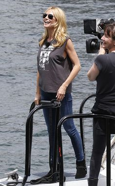bf46d6f23ce R13 Ziggy Stardust T-shirt as seen on Heidi Klum Blonde Women