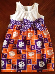 Clemson Tigers dress on Etsy, $35.00