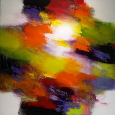Abstract painting titled Radiance by Jeffrey Bisaillon 48 X 48 inches 2015 http://www.jeffreybisaillon.com/abstract19.html