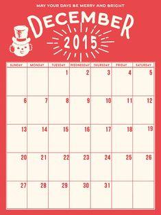 Holiday Calendar December Daily Freebie, Courtesy of Marie Lottermoser