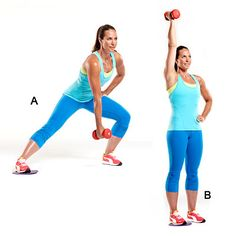 The Slide & Press is high-impact and low-maintenance. This #strength #workout move targets your #quads, #hamstrings, and #shoulders. | Health.com