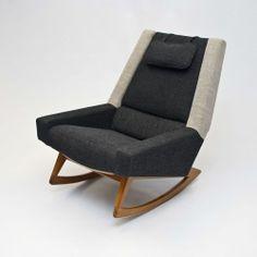 LARGE Danish Rocking Chair / Rocker - Vintage Retro Mid Century