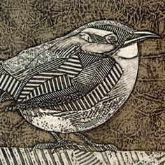 Kinglet (Hand-Pulled Collagraph of Carolina Wren) – Try Handmade Gallery, texture, printmaking Collagraph Printmaking, Printmaking Ideas, Linocut Prints, Art Prints, Illustrations, Illustration Art, Arte Popular, Art Graphique, Bird Art