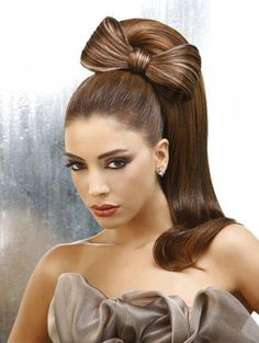 Ponytail with bow hairstyle - Woman's heaven