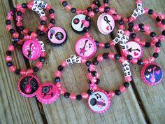 Girls Rock and Roll Karaoke Guitar Singer Concert Birthday Party Favor Deluxe Name BFF Bracelet 6pk