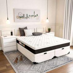 Cama Box Queen, Black White, Mattress, Storage, Furniture, Home Decor, Dresser Bed, Dream Bedroom, Female Bedroom