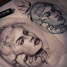 Done by Giulia Bongiovanni, tattooist at Ultimi Romantici Tattoo Studio (Rome), Italy TattooStage.com - Rate & review your tattoo artist. #tattoo #tattoos #ink