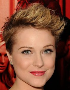 Evan Rachel Wood's short hair