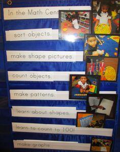 I Can anchor chart in the Math Center. Science Center Preschool, Preschool Lessons, Preschool Math, Math Classroom, Math Activities, Maths, Beginning Of Kindergarten, Kindergarten Math, Teaching Math
