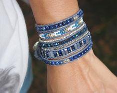 Citroen Jade kralen mix Wrap armband Boho armband door G2Fdesign