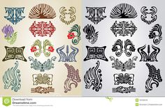 Element Pattern Collection Art Nouveau Royalty Free Stock Photos ...