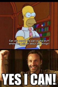 Walking Dead Rick Grimes zombies LOL meme funny