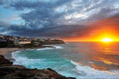 Tamarama Beach, NSW Deep Blue, Sunrise, Ocean, Beach, Water, Outdoor, Gripe Water, Outdoors, The Beach