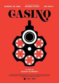 Casino (1995) ~ Minimal Movie Poster by Brandon Schaefer #amusementphile