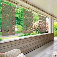 H x 4 ft. W Celtic Screen Composite Fencing Privacy Screen Outdoor, Backyard Privacy, Backyard Fences, Backyard Landscaping, Landscaping Ideas, Balcony Privacy, Fence Design, Garden Design, Casa Retro