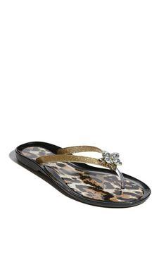 Cute glitter flip flops
