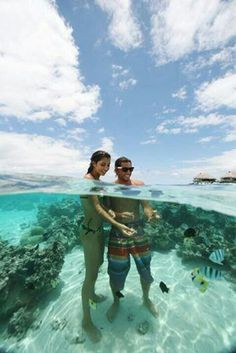 Crytal Clear Sea, Bora Bora.want to go Bora Bora