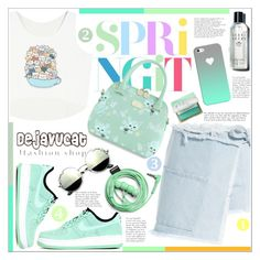 """""""No 357:I like Cat!"""" by lovepastel ❤ liked on Polyvore featuring Sandy Liang, Casetify, NIKE, Bobbi Brown Cosmetics, Urbanears and too cool for school"""