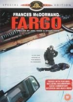 Fargo by the Coen Brothers. Jerry Lundegaard (Macy), a hapless car salesman so deep in debt, he hires two thugs (Buscemi, Stormare) to kidnap his wife Brothers Movie, Coen Brothers, Fargo 1996, Brother Where Art Thou, Car Salesman, Movie Covers, Soundtrack, Thriller, Documentaries