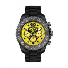 Reloj Bultaco Speedcity Chrono Yellow, desprende brillantez por su color de esfera amarilla, y su combinación con el resto de sus acabados de primera calidad. www.relojes-especiales.net #cronografo #yellow #amarillo #relojesbultaco