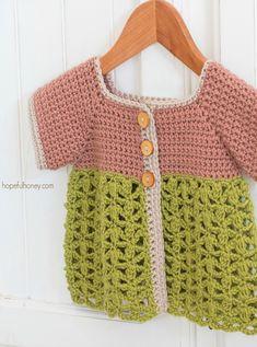 Secret Garden Toddler Cardigan - Giveaway + Crochet Pattern