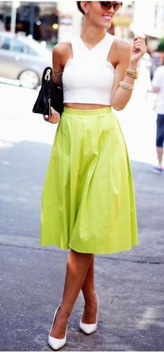 Love this key lime skirt! Find similar styles at Nordstrom and Lord & Taylor and get a discount with Studentrate!