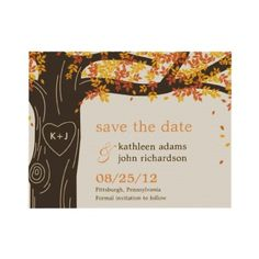 Our Save the Dates! October 13, 2012!