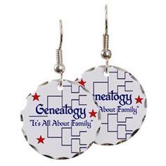 Family Tree Chart Earring Circle Charm>