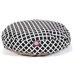 Small Round Pet Bed Black Bamboo