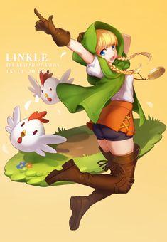 the legend of zelda hyrule warrior legends, linkle by lulu