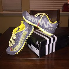 Women's Adidas Vigor 3 W running shoe Grey and yellow Adidas Vigor 3 W running shoe.  Worn only once. Adidas Shoes Sneakers