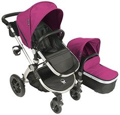 Babyroues Letour Avant Canvas Stroller  Bloom PinkSilver -- Continue to the product at the image link.