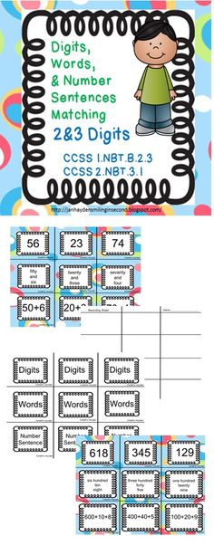 Math Center- This can be a stand alone center for reinforcement. * Workmat Included* Partner Work- Students can work together to match the three ways to make a number. Task Cards- Students can use these as cards in a center or as an extra activity.