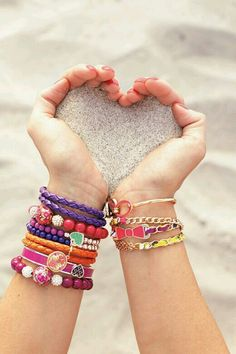 Colorful beads, charm and pendant bracelet accessories Love this for summer #summeraccessories #summer #beach #accesories #clothesaccesories #beads #colorful #charms #pendant #bracelet #sand #beach #theclassypeople
