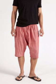 The Fisher Shorts + Chambray Red